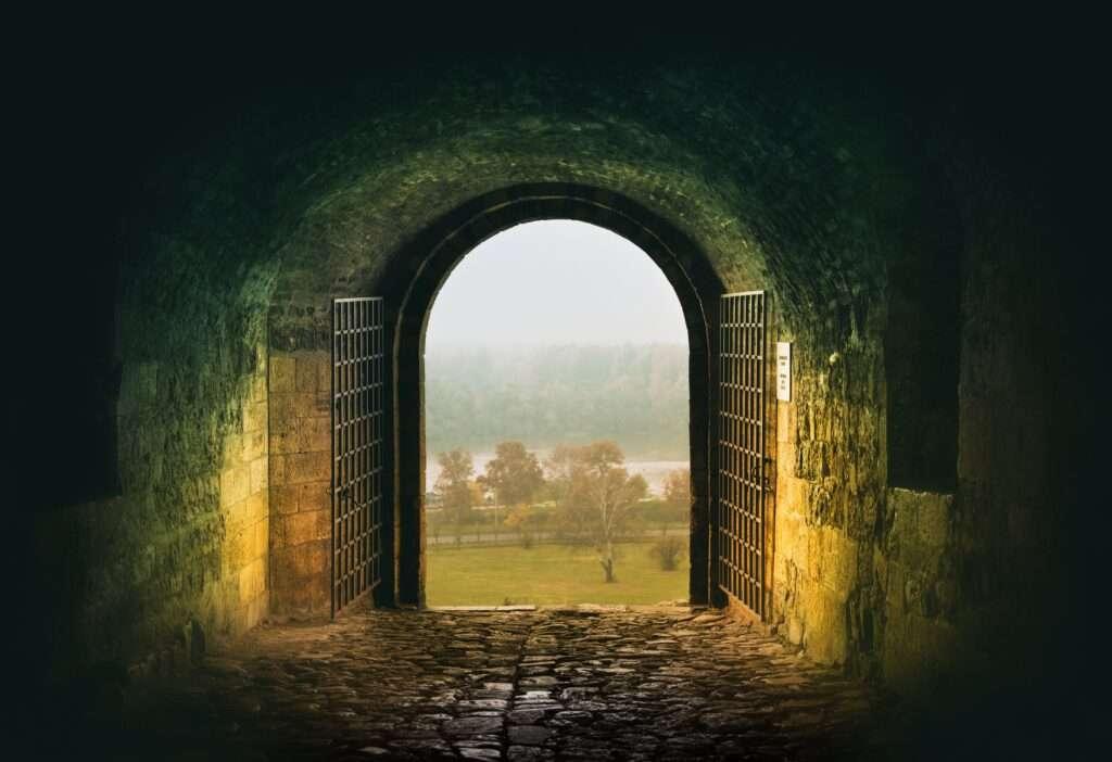 vrata i pogled na Dunav